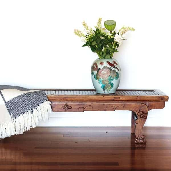 Chinese Bamboo Bench